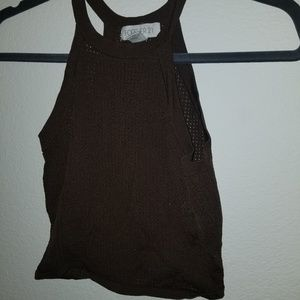 Forever 21 knitted brown crop top